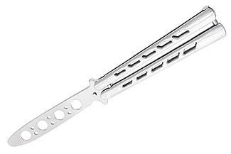 Нож бабочка тренировочный балисонг/ на Заклёпках/ безопасный детский нож для ребенка, АК-10, не острый