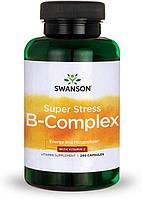 Вітаміни і мінерали Swanson Super Stress Vitamin B-Complex with Vitamin C 240 капс Знижка! (231387)