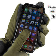 M-Tac перчатки Soft Shell Thinsulate Olive, фото 3