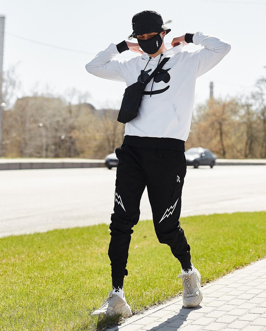 Мужские брюки-карго Пушка Огонь Angry Flash молодежные черные штаны cargo весна лето подростковые брюки карго