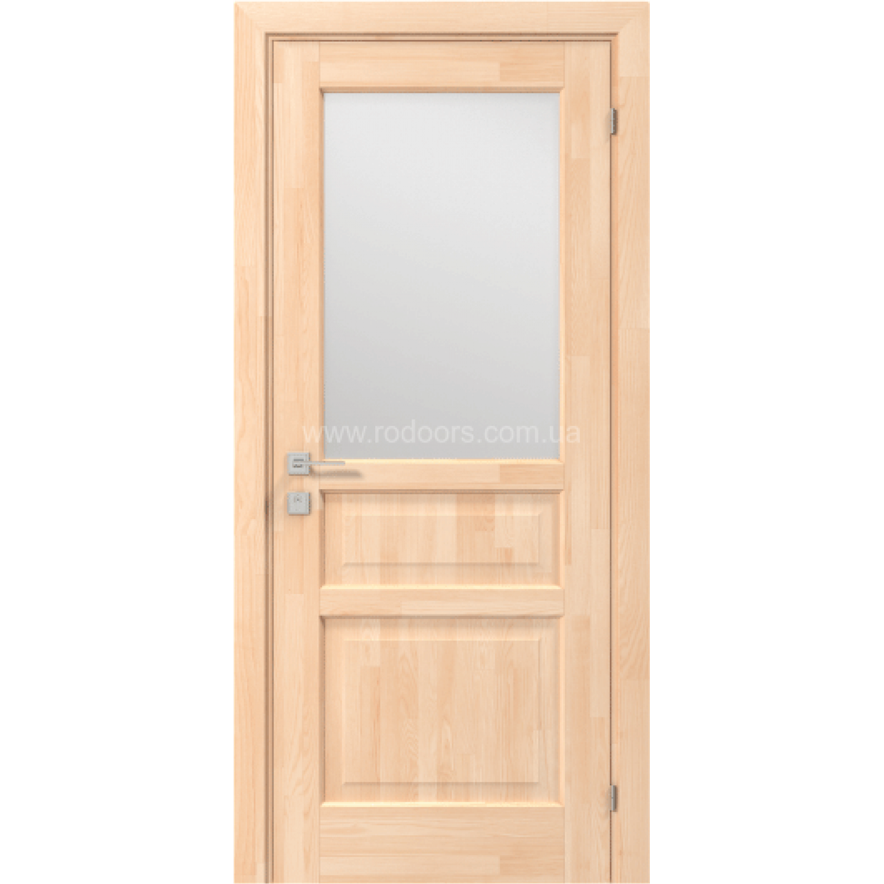 Межкомнатные двери Rodos Wood Mix  Praktic (вставка матовое стекло)