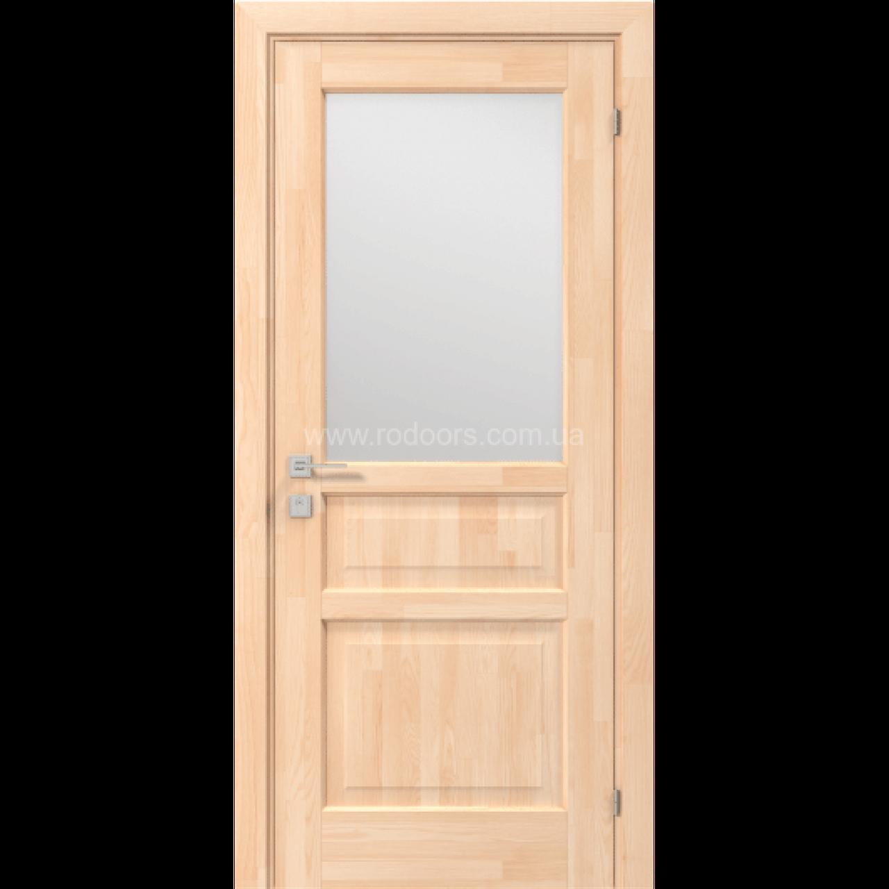 Міжкімнатні двері Rodos Wood Mix Praktic (вставка матове скло)