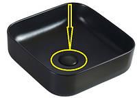 Накладка керамическая на сифон для умывальника, черная