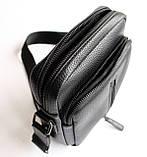 Мужская черная сумка-мессенджер, фото 4