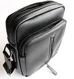 Мужская черная сумка-мессенджер, фото 3