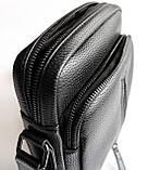 Мужская черная сумка-мессенджер, фото 6