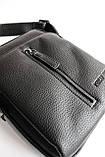 Мужская черная сумка-мессенджер, фото 5