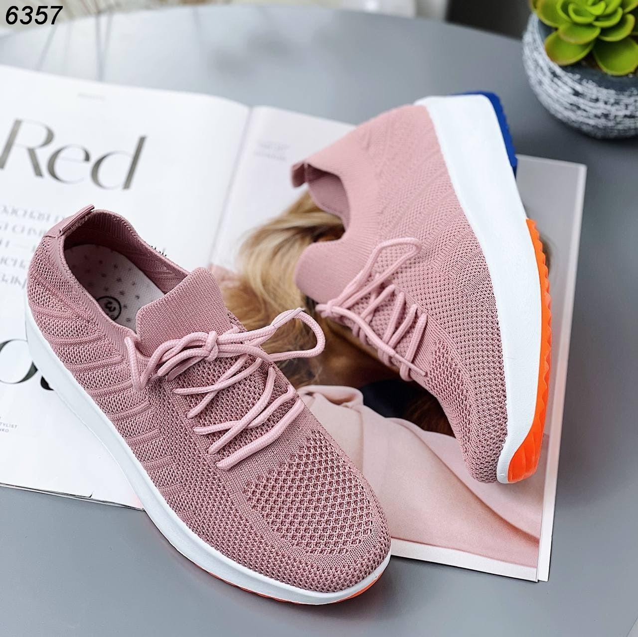 Красивые кроссовки на высокой подошве 6357 (ВБ)
