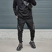 Мужские брюки-карго Пушка Огонь Angry Zipp S молодежные черные штаны cargo весна подростковые брюки карго
