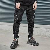Мужские брюки-карго Пушка Огонь Angry Zipp M молодежные черные штаны cargo весна подростковые брюки карго