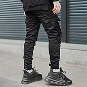 Мужские брюки-карго Пушка Огонь Angry Zipp L молодежные черные штаны cargo весна подростковые брюки карго