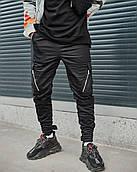 Мужские брюки-карго Пушка Огонь Angry Zipp XL молодежные черные штаны cargo весна подростковые брюки карго