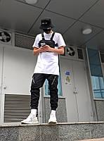 Мужские брюки-карго Пушка Огонь Angry Zipp молодежные черные штаны cargo весна лето подростковые брюки карго, фото 1