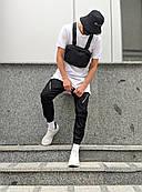 Мужские брюки-карго Пушка Огонь Angry Zipp XS молодежные черные штаны cargo весна подростковые брюки карго