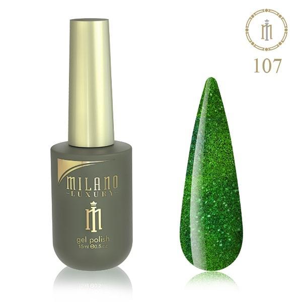 Гель лак MILANO LUXURY 15 мл № 107 (Майский зеленый жук)