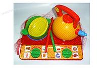 Печка с набором посуды Юная господарочка №6 (6 эл.) в сетке