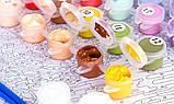 Картина рисование по номерам Идейка Забавный бульдог KH4009 40х40 см Коты и собаки набор для росписи краски,, фото 2
