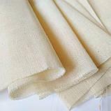 Тканина бавовна для рукоділля суворий беж ,рідкісне плетіння, фото 2
