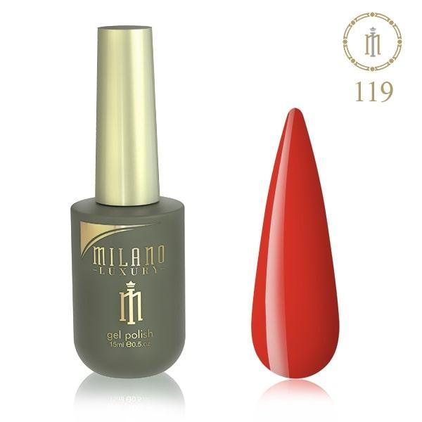 Гель лак MILANO LUXURY 15 мл № 119 (Морковный)