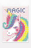 "Картина по номерам стикерами в тубусе ""Единорог"", 33х48 см, фото 2"