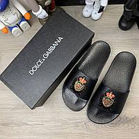 Шлепанцы Dolce Gabbana Saint Barth Black