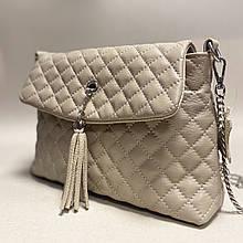 Стеганая сумочка из натуральной кожи
