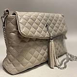 Стеганая сумочка из натуральной кожи, фото 2