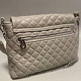 Стеганая сумочка из натуральной кожи, фото 3