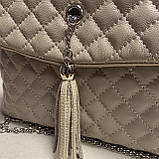 Стеганая сумочка из натуральной кожи, фото 5