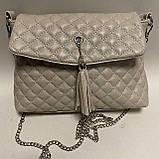 Стеганая сумочка из натуральной кожи, фото 6