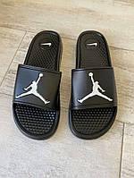 Шлепки Jordan Slide Sandal Logo White/Black