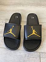 Шлепки Jordan Slide Sandal Logo Gold/Black