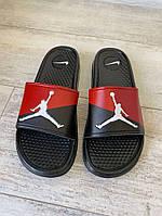Шлепки Jordan Slide Sandal Logo Red/Black