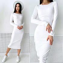 Крутое платье резинка макси обтягивающее из трикотажа хит 2021, фото 2