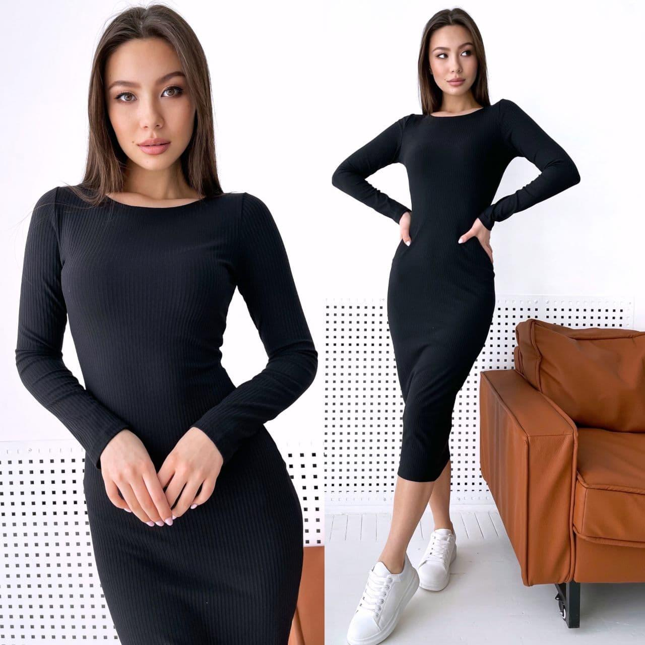 Крутое платье резинка макси обтягивающее из трикотажа хит 2021