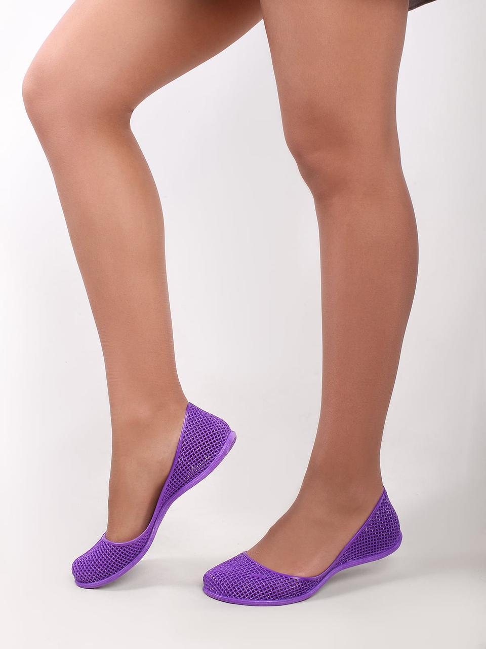 Жіночі Силіконові балетки мильниці In-Ox In-Ox Фіолетовий 40 Жіночий  (Finox40)