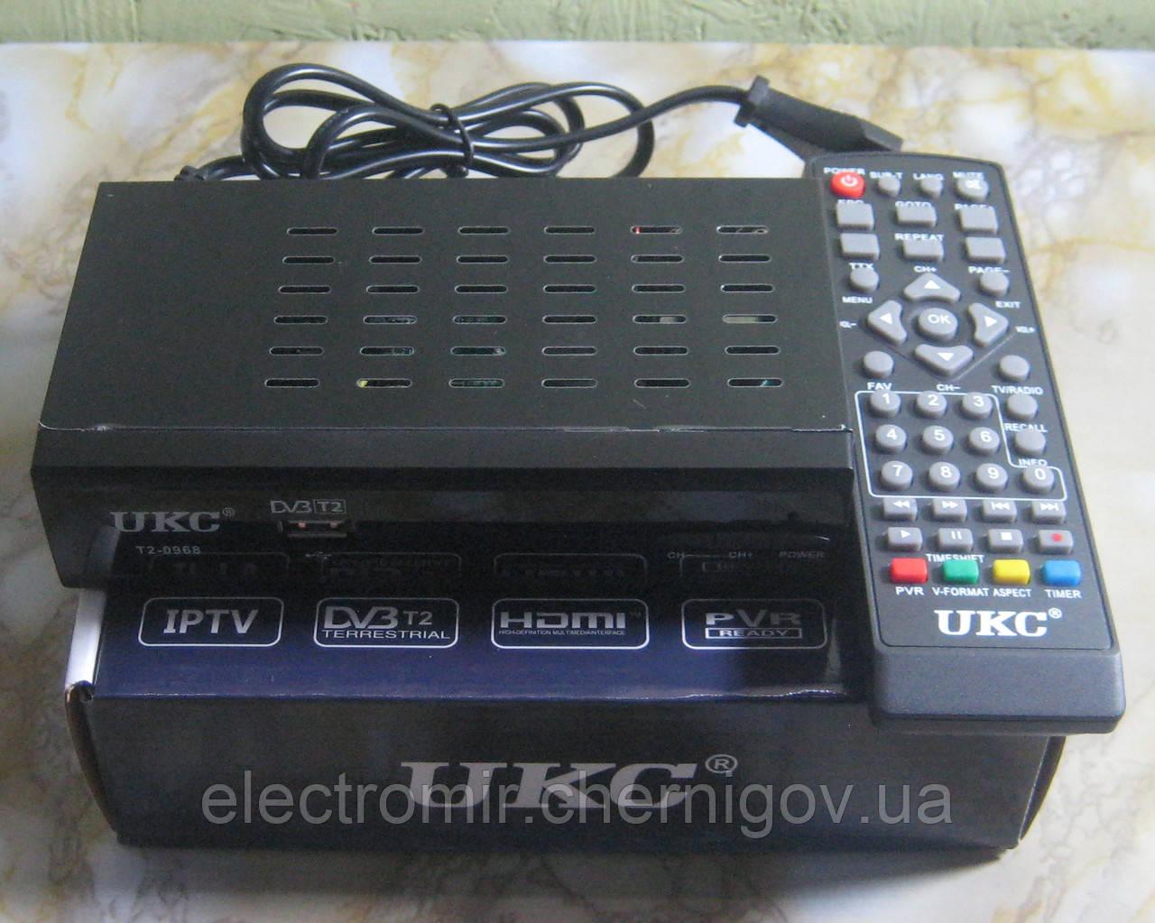 Цифрова Т2 приставка з підтримкою Wi-Fi адаптера UKC T2-0968