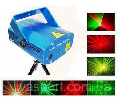 Лазерный проектор Mini Laser Stage Lighting YX-6D-A (установка, светомузыка)