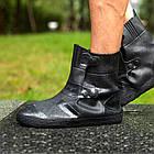 Гумові бахіли на взуття від дощу Lesko SB-108 Чорний L (6302-21182), фото 3