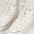 Гумові бахіли на взуття від дощу Lesko SB-102 квіточки S багаторазові (6300-21180), фото 2
