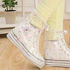 Гумові бахіли на взуття від дощу Lesko SB-102 квіточки S багаторазові (6300-21180), фото 3