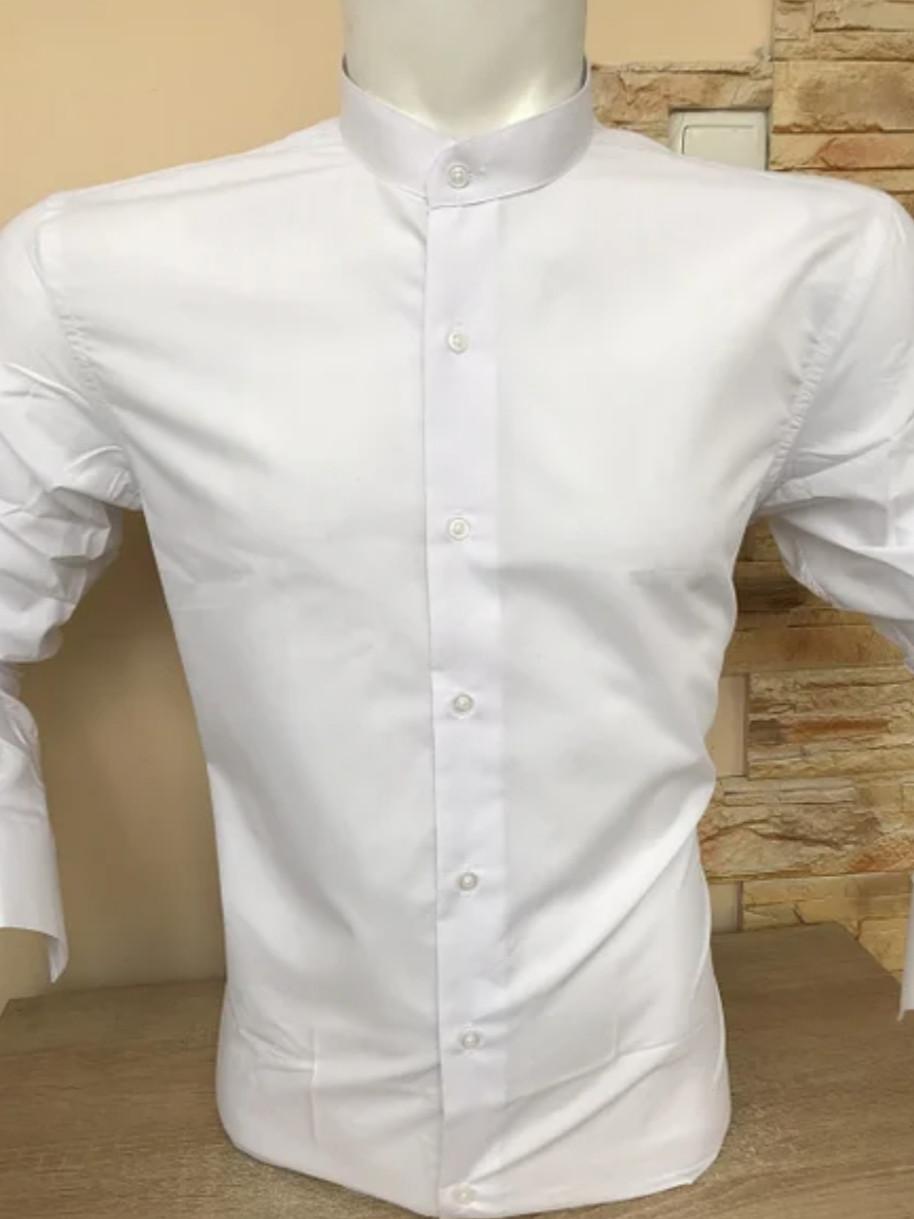БІЛА чоловіча сорочка з коміром - стійкою FIORENZO
