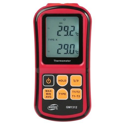 Цифровий двоканальний термометр BENETECH GM1312 (Китай)