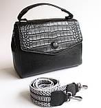 Женская кожаная черная сумка, фото 4
