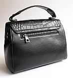 Женская кожаная черная сумка, фото 7