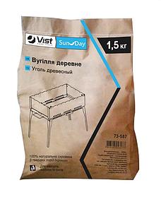 Уголь древесный Sunday для мангала барбекю и гриля 1.5 кг (73-587)