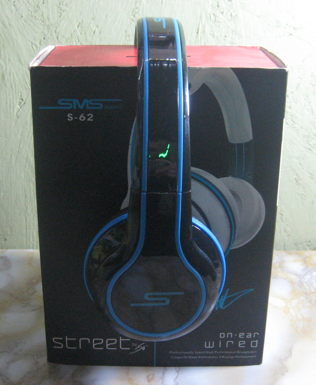 Дротові навушники повнорозмірні SMS S-62 (чорні)