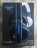 Дротові навушники повнорозмірні SMS S-62 (чорні), фото 5