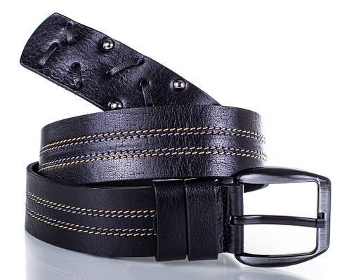 Стильный ремень мужской кожаный YSK SHI921