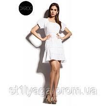 Воздушное платье мини из хлопка белое ЛЕТО
